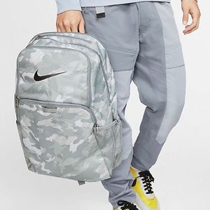 Nike Brasilia Gray Camo XL Training Backpack